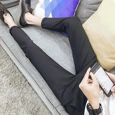 [免運]夏季九分褲男褲修身休閒褲男士褲子男小腳褲韓版潮流男生西褲—印象良品