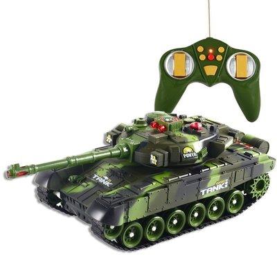 【優上精品】兒童玩具 遙控坦克模型 電動兒童金屬 親子對戰可發射(Z-P3179)