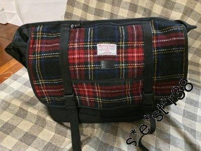 購置IT全新Black Chocoolate x Harris Tweed 紅綠色蘇格蘭格仔側背袋 - 手袋 handbag 斜背袋