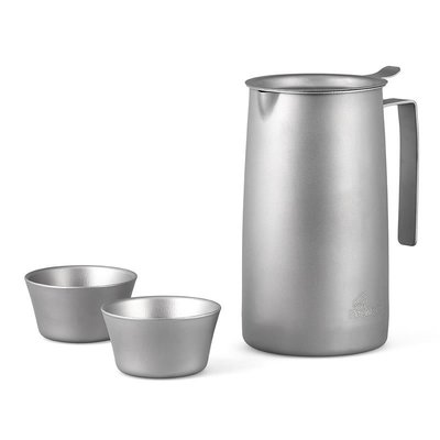【小山戶外】火楓 般若BoRe泡茶器 FMP-T320 鈦茶具 鈦壺 輕量化濾茶一壺兩杯