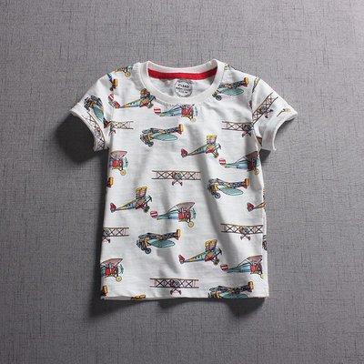 【Mr. Soar】 C375 夏季新款 歐美style童裝男童飛機印花短袖T恤 現貨