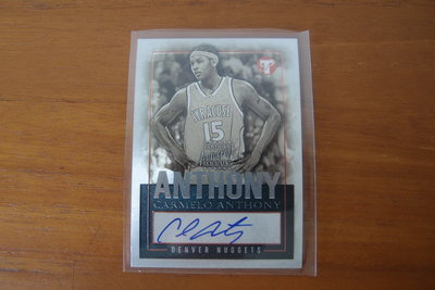 美國NBA職籃明星-CARMELO ANTHONY(簽名卡)-綽號「美國隊長」 被稱為「聯盟最多單打手段的球員」-缺貨