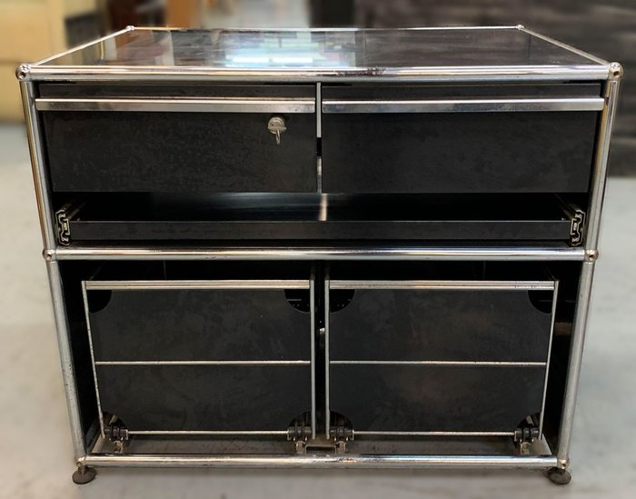【宏品二手家具】 台中全新中古傢俱家電最便宜 D32503*黑色多功能置物架*衣櫃/高低櫃/置物櫃/電視櫃/矮櫃/平面櫃