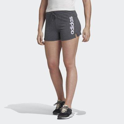 【豬豬老闆】ADIDAS ESSENTIALS LINEAR 灰色 短褲 修身 休閒 運動 訓練 女款 FM6686