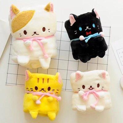 寵物貓咪可捲曲收納毯 小毛毯 懶人毯【JI1973】《Jami》