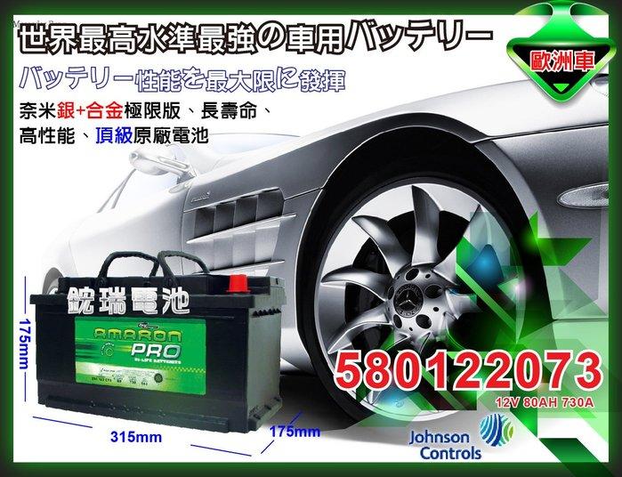 ☆鋐瑞電池☆DIY 自取交換優惠價 AMARON 愛馬龍 DIN80 12V80AH 福斯 奧迪 賓士 BMW 汽車電池