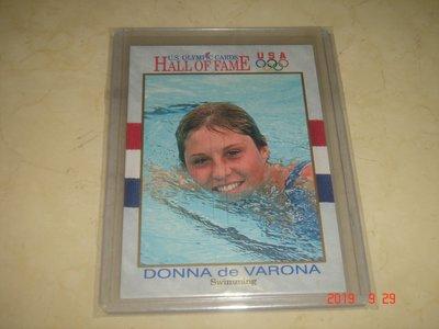 游泳運動員 美國隊 Donna de Varona 1991 Impel 奧運美國隊 #37 球員卡