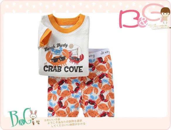 【B& G童裝】正品美國進口OLD NAVY 螃蟹圖樣短袖短褲睡衣組18-24mos,2yrs