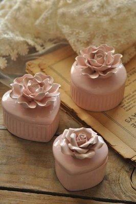 創意收納罐陶瓷首飾飾品戒指盒可愛梳妝台居家裝飾禮物