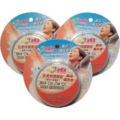 [罩鼻康Nosecomm]濾芯特惠組(無鼻罩)--日常防護隱形--XS適用(3盒-33對濾芯)
