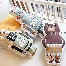 Sisterxoxo 歐美 北歐 小寶貝們的拍照神器小夥伴 嬰兒房 家飾品 可愛造型抱枕 機器人 領結熊 滿月禮 月子包