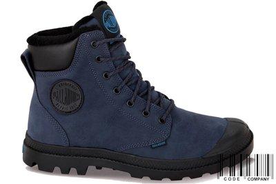 =CodE= PALLADIUM PAMPA SPORT CUFF WP 防水牛巴戈皮革軍靴(藍)73298-426 男