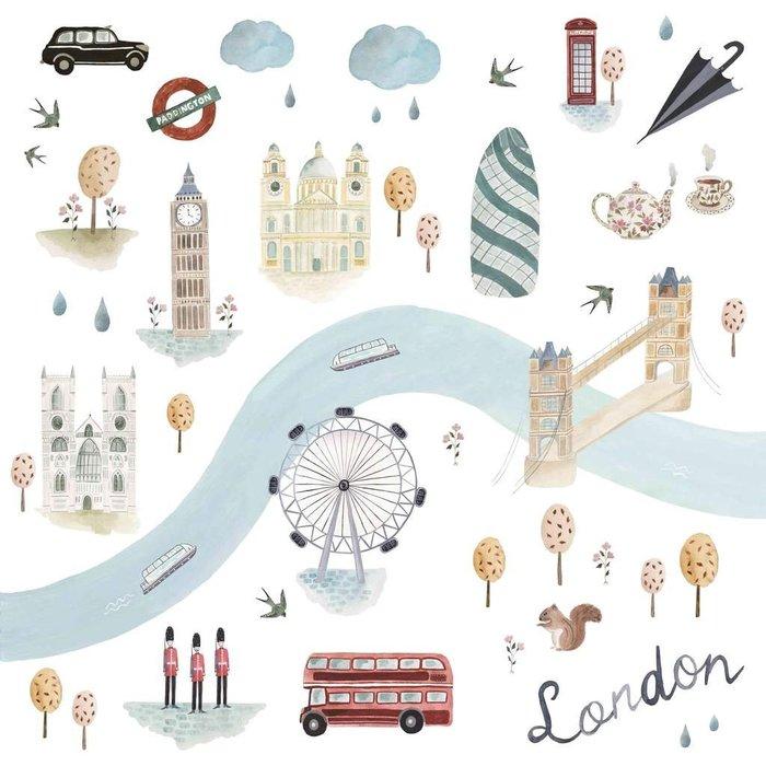 ♡NaNa Baby♡加拿大Loulou lollipop 竹纖維透氣包巾禮盒款 - 英國倫敦