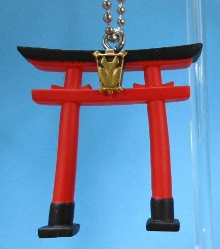 【動漫瘋】 現貨  日版 轉蛋 日本神社 和狐 系列 吊飾 公仔 狐面具 單售 鳥居