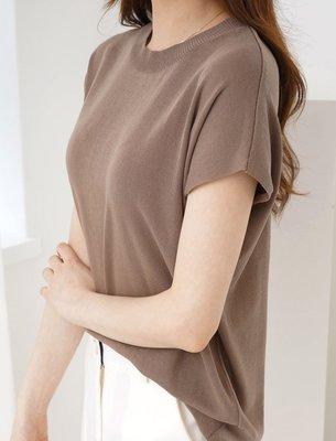 AMi 正韓 圓領包袖 簡約有型 透氣上衣(4色) 韓國代購 (90615X0003)