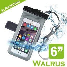 【風雅小舖】【Avantree Walrus運動音樂手機防水袋(可接防水耳機)】附臂帶/頸掛式吊繩 防水套/臂套游泳浮潛