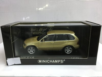 二手 MINICHAMPS 1/43 BMW X5 2000 LIGHT YELLOW