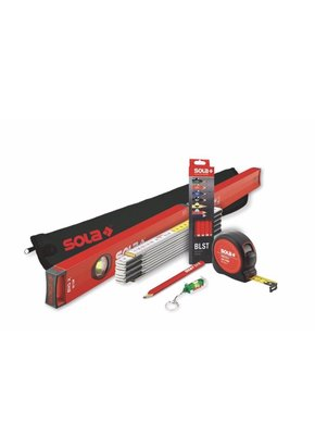 附發票(東北五金)正澳地利 SOLA品牌 工具套裝組 含水平尺 捲尺 直尺 工程筆 工具套