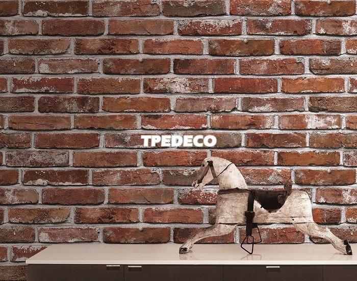 【大台北裝潢】PL韓國進口壁紙/壁布* 仿建材 粗曠磚牆(2色) 每坪750元