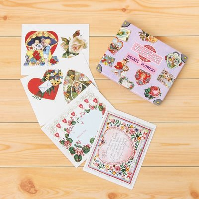 《散步生活雜貨》日本進口 VALENTINE LABELS 情人節 復刻版 行李箱貼紙 組