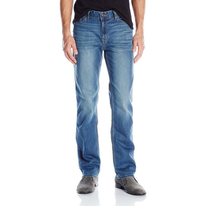 美國百分百【Calvin Klein】牛仔褲 CK 休閒褲 長褲 單寧 直筒合身 藍色 抓紋刷白 褲子 32腰 G799