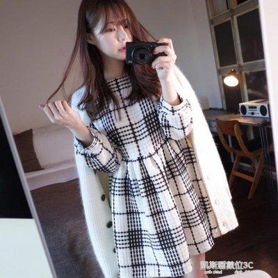 秋冬季毛呢洋裝女新款韓版名媛小香風氣質打底A字裙子