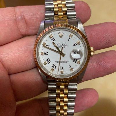 Rolex 勞力士 16233 白瓷鑽石面