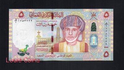 【Louis Coins】B133-OMAN--2010阿曼紀念紙幣5 Rials