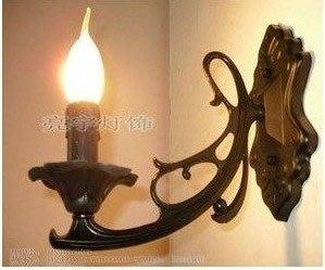 廠家直銷/歐式鋅合金壓鑄/單頭壁燈/蠟燭燈/過道/樓梯間特價  23