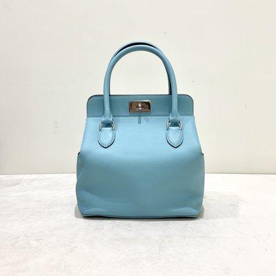 Hermes Toolbox 20 Swift 銀釦 3P Blue Atoll Tiffany藍《精品女王全新&二手》