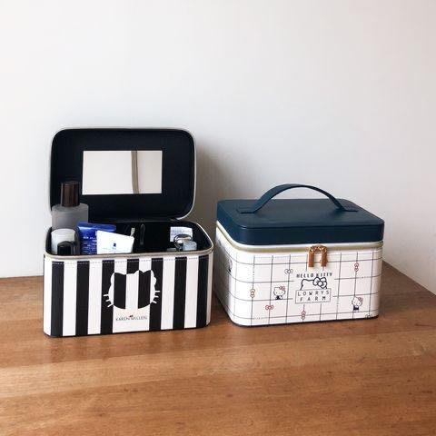 7-11 KT皮革化妝箱(條紋)