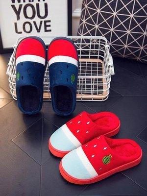 拖鞋冬天保暖情侶棉拖鞋女冬季新款包跟室內居家用情侶可愛家居毛拖鞋男