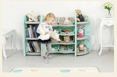 兒童玩具收納架 幼兒園玩具柜 收納玩具櫃 整理櫃 卡通儲物櫃 多功能置物 書架 塑料櫃子 母嬰用品(全套組)