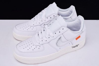 OFF-WHITE × Nike Air Force 1 Low 白色 低幫 男女款 休閒 運動 AO4297-100