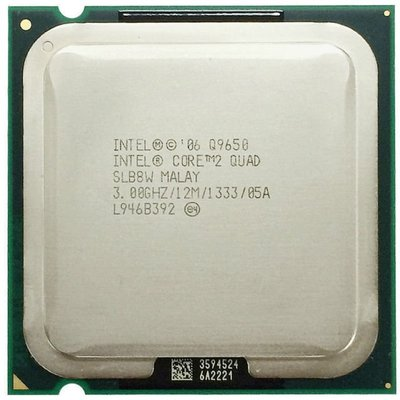 LGA775攻頂Intel Core 2 Quad Q9650正式版 3.0G/12MB/1333Mhz