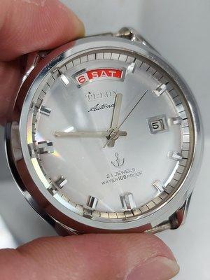 Telux 鐵力士 展示錶 機械錶 不是seiko 鏡面3公分 直徑4公分