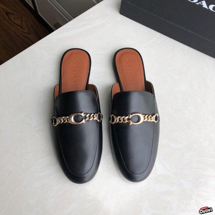 【全球購.COM】COACH 寇馳 2020新款 懶人鞋 五金屬LOGO 百搭休閒鞋1  時尚精品 美國連線代購