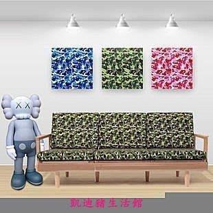 【凱迪豬生活館】Bape KAWS 精蟲迷彩 訂製 無框畫 20x20cm 三組套畫KTZ-201004