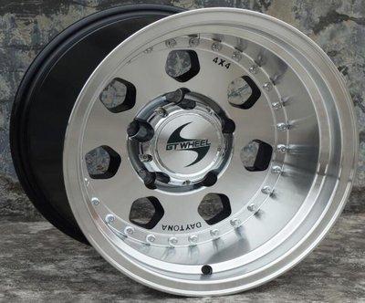 GT品牌4X4精品JIMNY吉米專用鋁圈15吋5孔139.7 10J ET-44中心孔110銀車邊