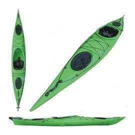 【單人海洋舟皮划艇-L010-全配-420*63*36cm-1套/組】艇+坐墊+槳+衣,需預定+海運-7682035