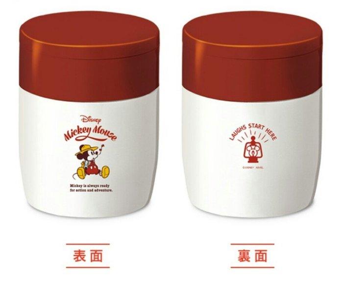 天使熊雜貨小舖~日本ASVEL×迪士尼Disney米奇款 保溫保冷湯罐0.3L 全新現貨