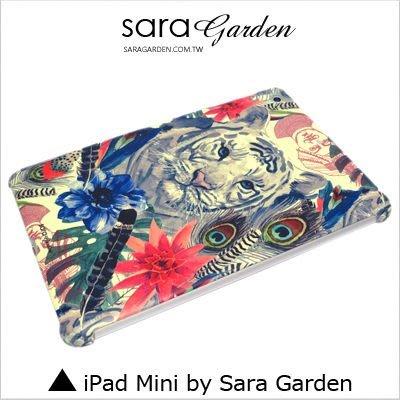 iPad Mini 1 2 3 4 客製化 保護殼 水彩 羽毛 白虎【G346】
