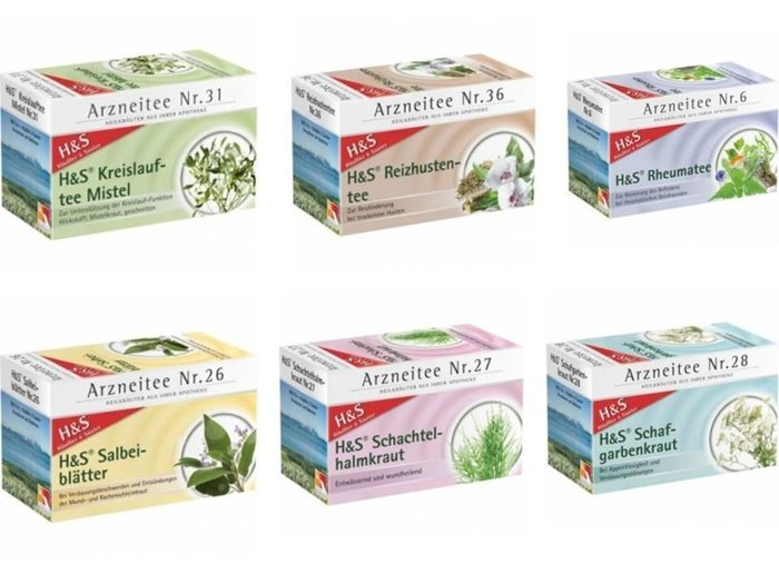 德國經典茶 H&S HSTEE 花草茶系列 共33款 - 任選3款(免運) 3 x 20包