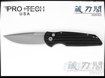《藏刀閣》Protech-(TR-3)Tactical Response 3-戰術反應側彈刀(噴砂刃)