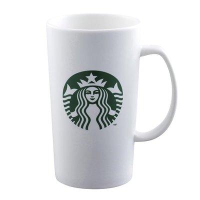 星巴克16OZ SIREN馬克杯 ,經典品牌女神Logo馬克杯 16oz,海妖 女神 經典把手  白色 品牌  馬克杯,