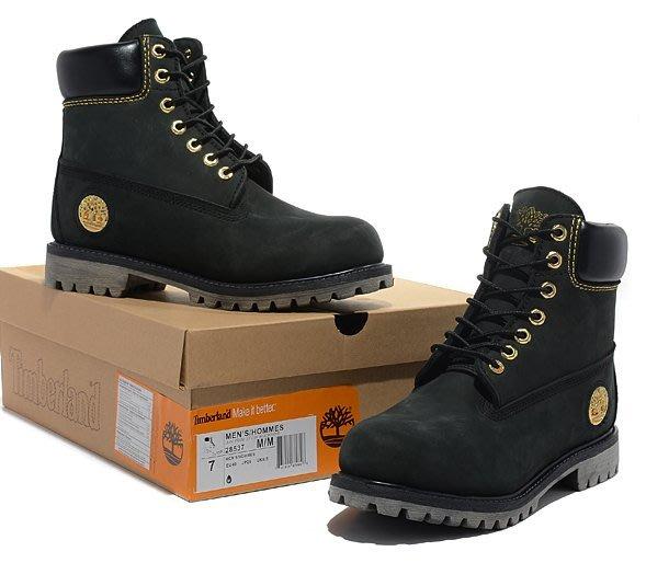 美國代購 正品Timberland/添柏嵐男鞋新款10061大黃靴女鞋防水牛皮高幫鞋馬丁靴黑金36-45碼四季靴