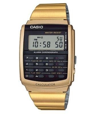 CASIO歷久不衰熱銷CALCULATOR系列 計算機功能CA-506G-9A(金色)