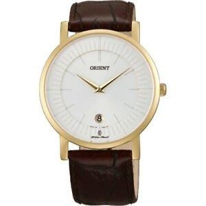 門市正貨 - 全新 FGW01008W0 Orient Sapphire Crystal Quartz Slim Watch 東方錶藍寶石皮帶手錶