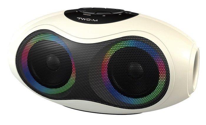 ESP-X2 (白色) 炫彩亮麗無線藍牙音響 支援插卡功能