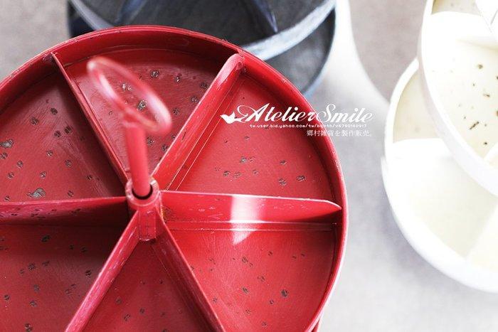 [ Atelier Smile ]  鄉村雜貨 日本直送 DULTON 金屬轉盤架 儲物架 三層收納架 展示架 # 預